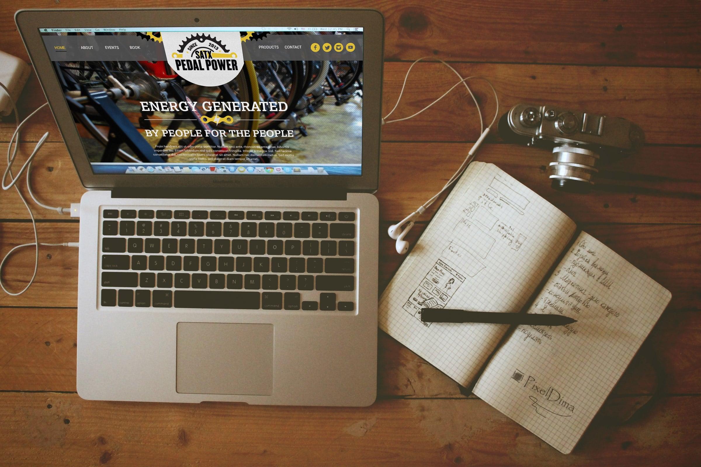 San Antonio Web Design Pedal power Website