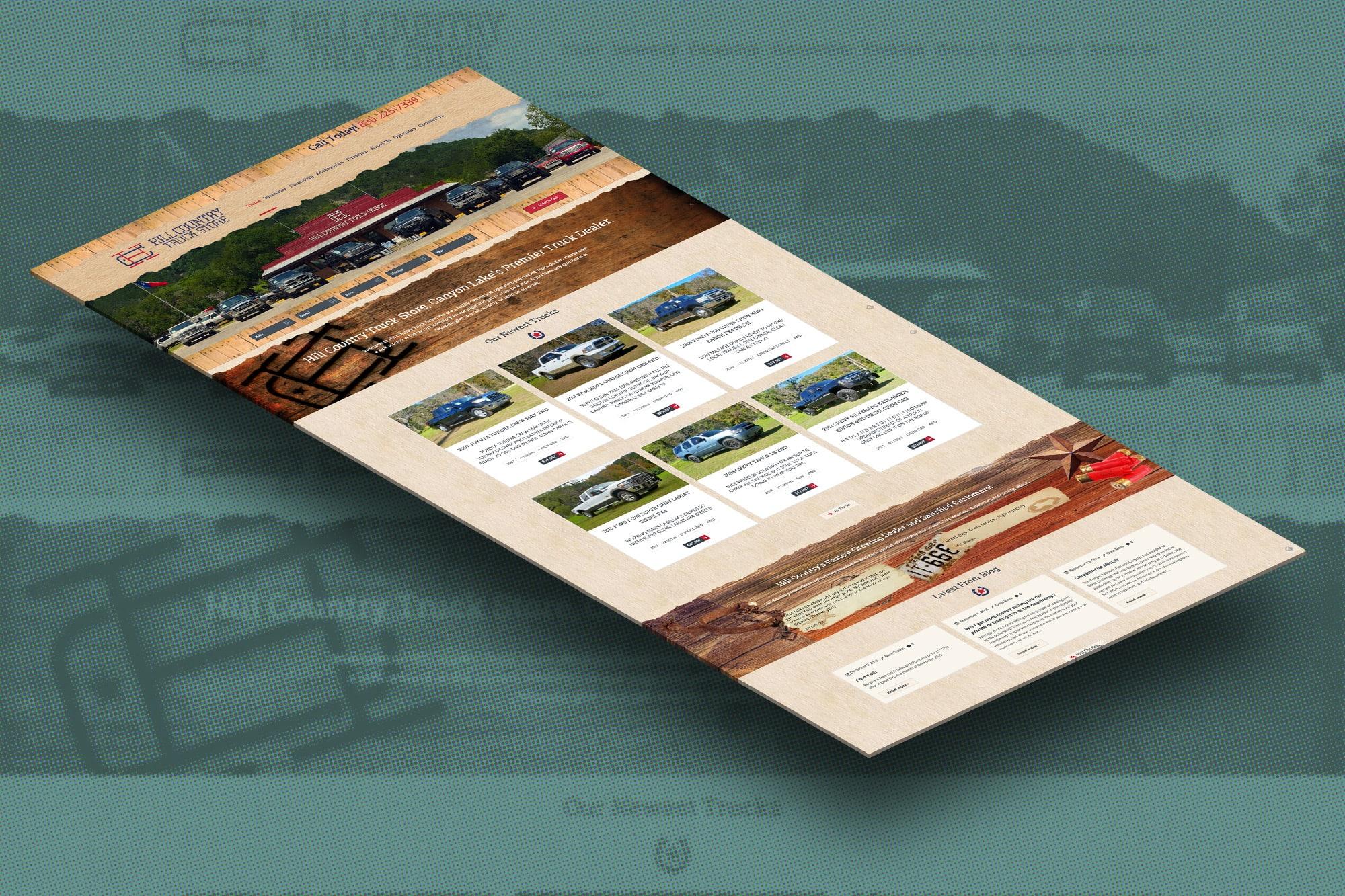 San Antonio Web Design Hill Country Truck Store Website 3D